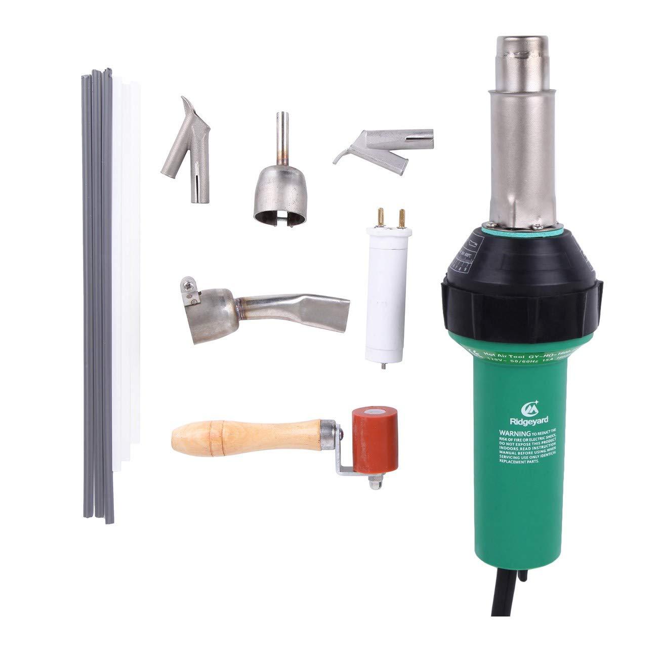 Ridgeyard Professional 110V 1600W Plastic Welder/Welding Hot Air Gun Hot Air Torch Plastic Welding Gun Welder Pistol