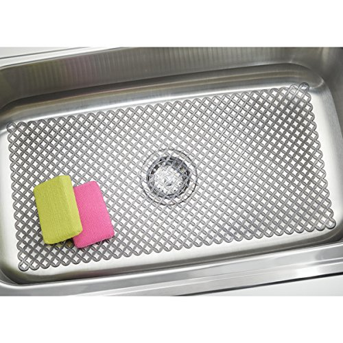 mDesign Sink Protector Mat for Kitchen Sinks - Extra Large, 12