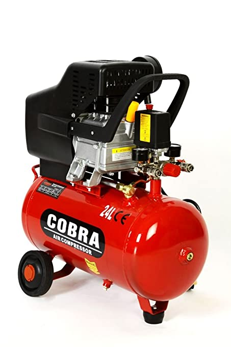 POWER HOUSE COBRA AIR TOOLS 25L LITER AIR COMPRESSOR 9 5 CFM 2 5HP WITH  FREE 5 PCS KIT(PAINT SPRAY GUN, PARAFFIN GUN, TYRE INFLATER, BLOW GUN AND
