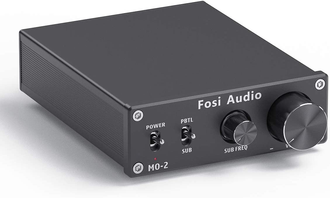 Fosi Audio Subwoofer Amplifier Mono Channel Amp Home Theater Power Amp 100W M02