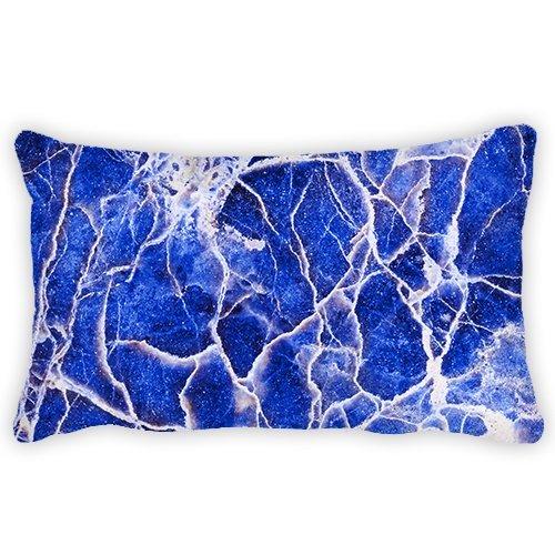 Poliéster azul océano marea cojín lumbar manta funda de ...