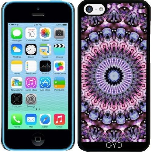 Coque pour Iphone 5c - Violette Mandala Fractal by EDDA