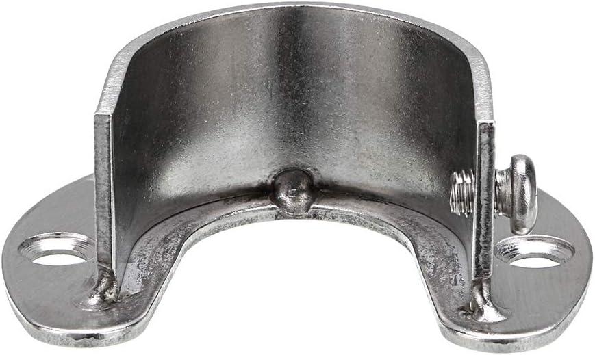 rideau de douche Sumnacon Lot de 6 douilles de penderie en forme de U en acier inoxydable pour penderie