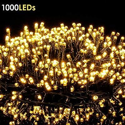 Guirnalda Luce de Navidad 1000 Leds, Ulinek 25M Cadena de Luces ...