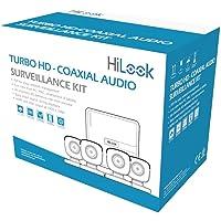 HiLook Kit TurboHD 1080p Lite/DVR 4 Canales / 4 Cámaras Bala de Policarbonato con Micrófono Integrado