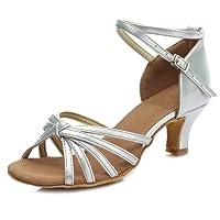 HIPPOSEUS Donna Standard Scarpe da Ballo Latino,Stretta Larghezza, Model-IT217