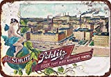 Schlitz Brewing Company vintage reproduction metal sign 8 x 12