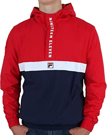 31b9dfaf6a Fila Vintage 1911 Qtr Zip Jacket Red/Navy/White S: Amazon.co.uk: Clothing