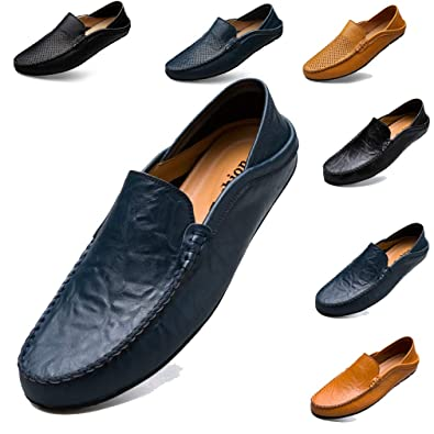 Smart Casual Shoes For Men Loafers Slip On Shoes Mens Leather