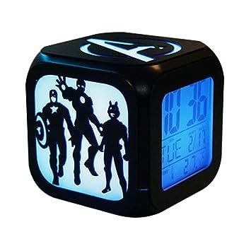 CLXYA Reloj Despertador electrónico Pantalla Digital LED Pantalla Grande electrónico Reloj Despertador de cabecera Despertador,004: Amazon.es: Hogar