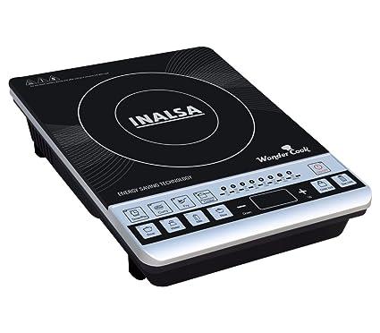 Inalsa Wonder Cook 1800-Watt Induction Cooktop (Black/Grey)