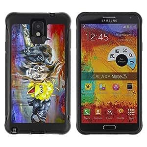 Hybrid Anti-Shock Defend Case for Samsung Galaxy Note 3 / POP Art Muppet & Animals