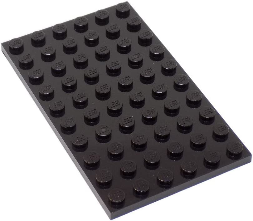 "LEGO Parts and Pieces: Black 6x10 (1.8""x3.0"") Plate x20"