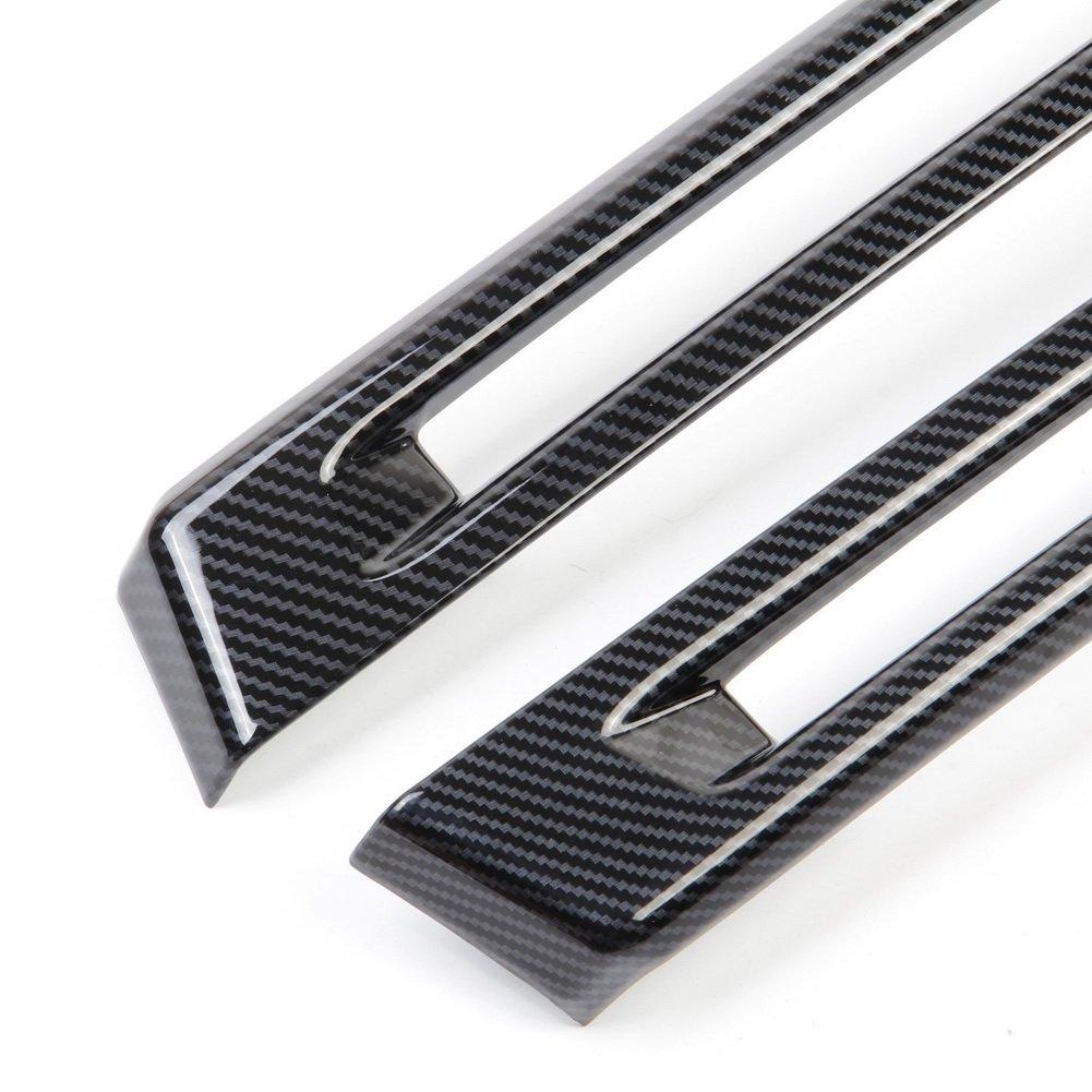 Justautotrim Carbon fiber look Cover trims Accessories Rear bumper Fog for 2014 2015 2016 2017 2018 Chevrolet Corvette C7
