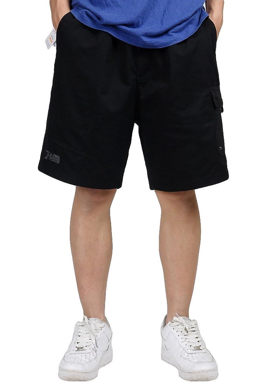 YUNY Men Solid Multi-Pockets Straight Casual Cargo Combat Work Pants Khaki 31