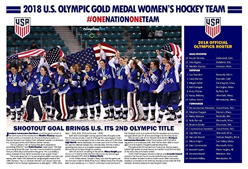 PosterWarehouse2017 2018 U.S. OLYMPIC GOLD MEDAL WOMEN'S HOCKEY TEAM COMMEMORATIVE POSTER