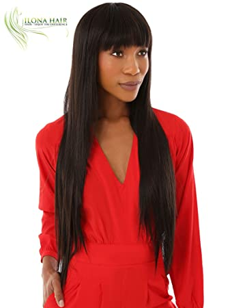 Extra Long Wig With Bang Straight Hair For White and Black Woman Stella 2+20