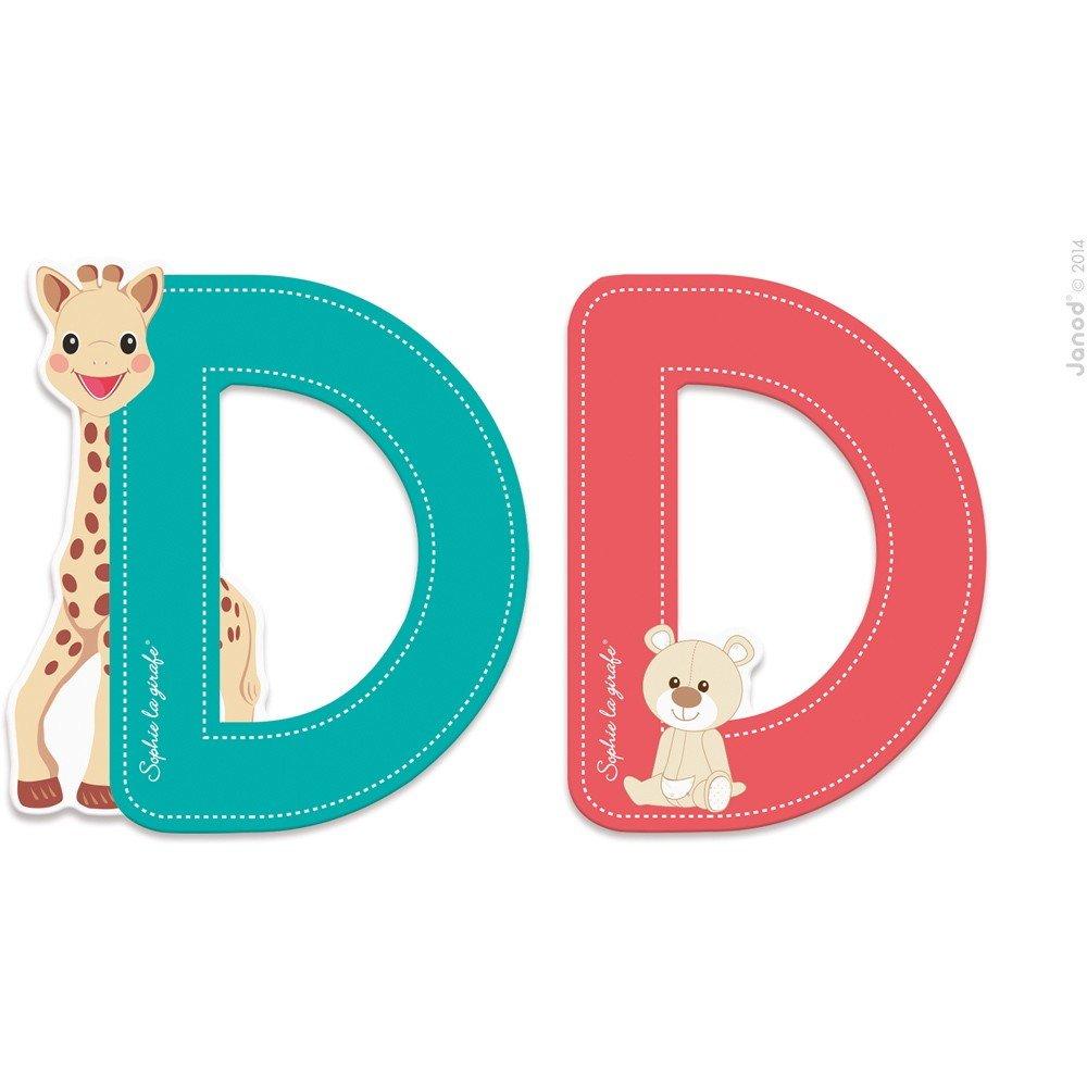 Lettre D Sophie la girafe Janod