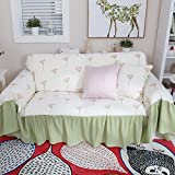 RUGAI-UE Sofa Slipcover Dandelion sofa cloth sofa cover sofa cloth sofa cushion anti-dust.,Dandelion Polka sofa towel,200×180 (CM)