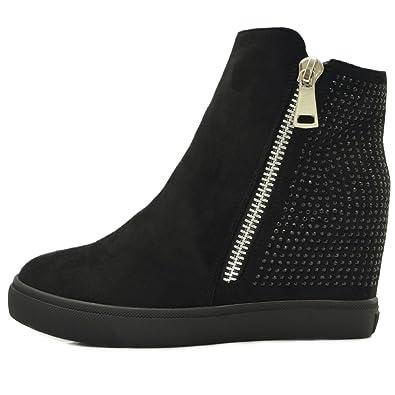 Vain Secrets Sneaker-Wedges in Schwarz oder Weiß (39, Weiß)