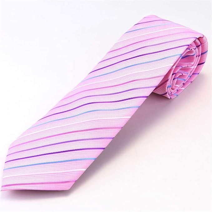 Gimitunus Corbata de Lazo de Las Mujeres, Regalo Pink Stripe Tie ...
