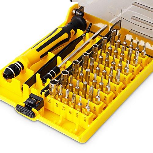 45 in 1 mini screwdriver set vcoo torx bit tools set small precision screwdriver kit with. Black Bedroom Furniture Sets. Home Design Ideas