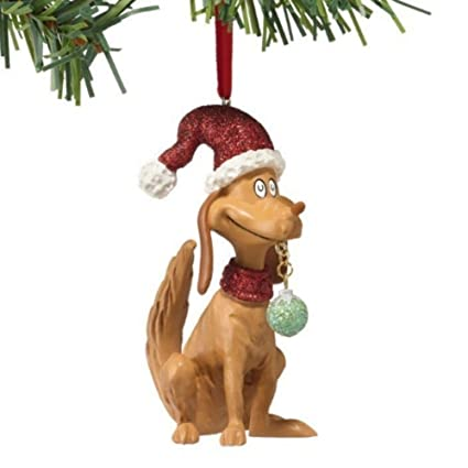 dr seuss the grinch christmas ornament max the dog holiday tree decor - Grinch Christmas Ornaments