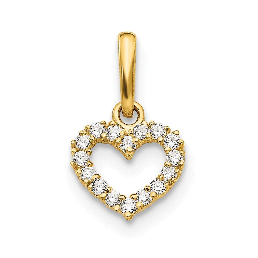 Jewelry Pilot 14K Madi K CZ Childrens Heart Pendant