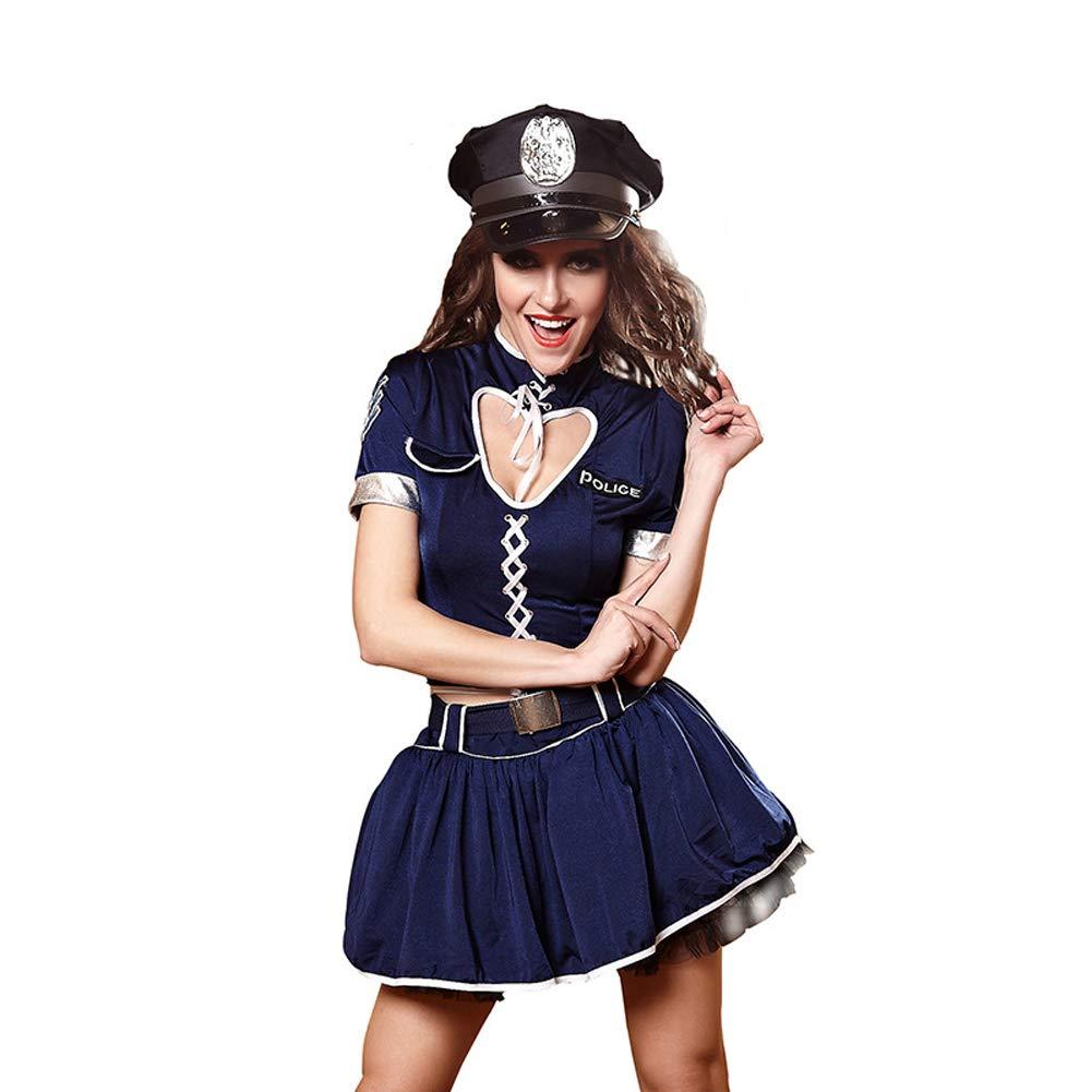 Disfraz de policía de halloween traje espía azafata marinero ...