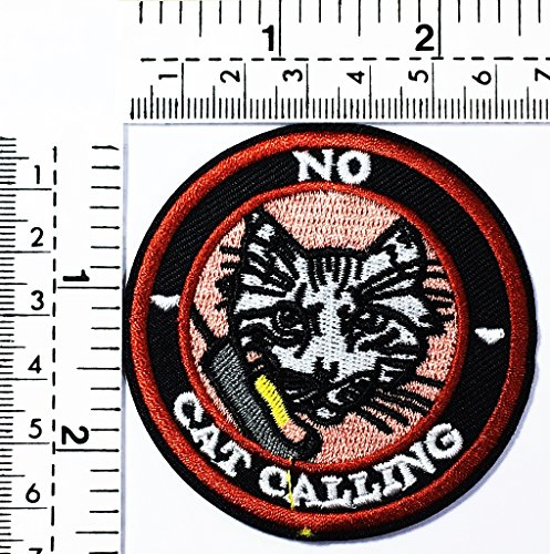 Cat no calling undercover very clever cat pet animal joke funny word kids cartoon patch Applique for Clothes Great as happy birthday (Happy Halloween Funny Pets)