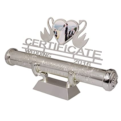 Amazon Com Certificate Holder Fgf Silver Plated Engraved