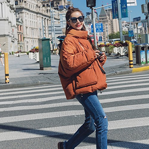 Feather Coat Winter Cotton Service Short Xuanku Loose Jacket Beige Clothing Hooded Cotton Thick Bread CwXq5I