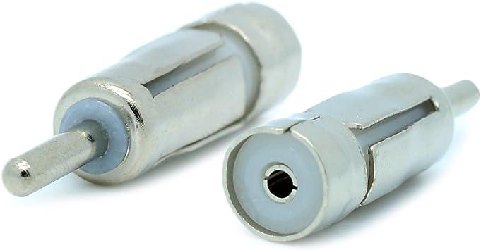 Kupplung ISO Frustfreie Verpackung Hama Antennen-Adapter Stecker DIN