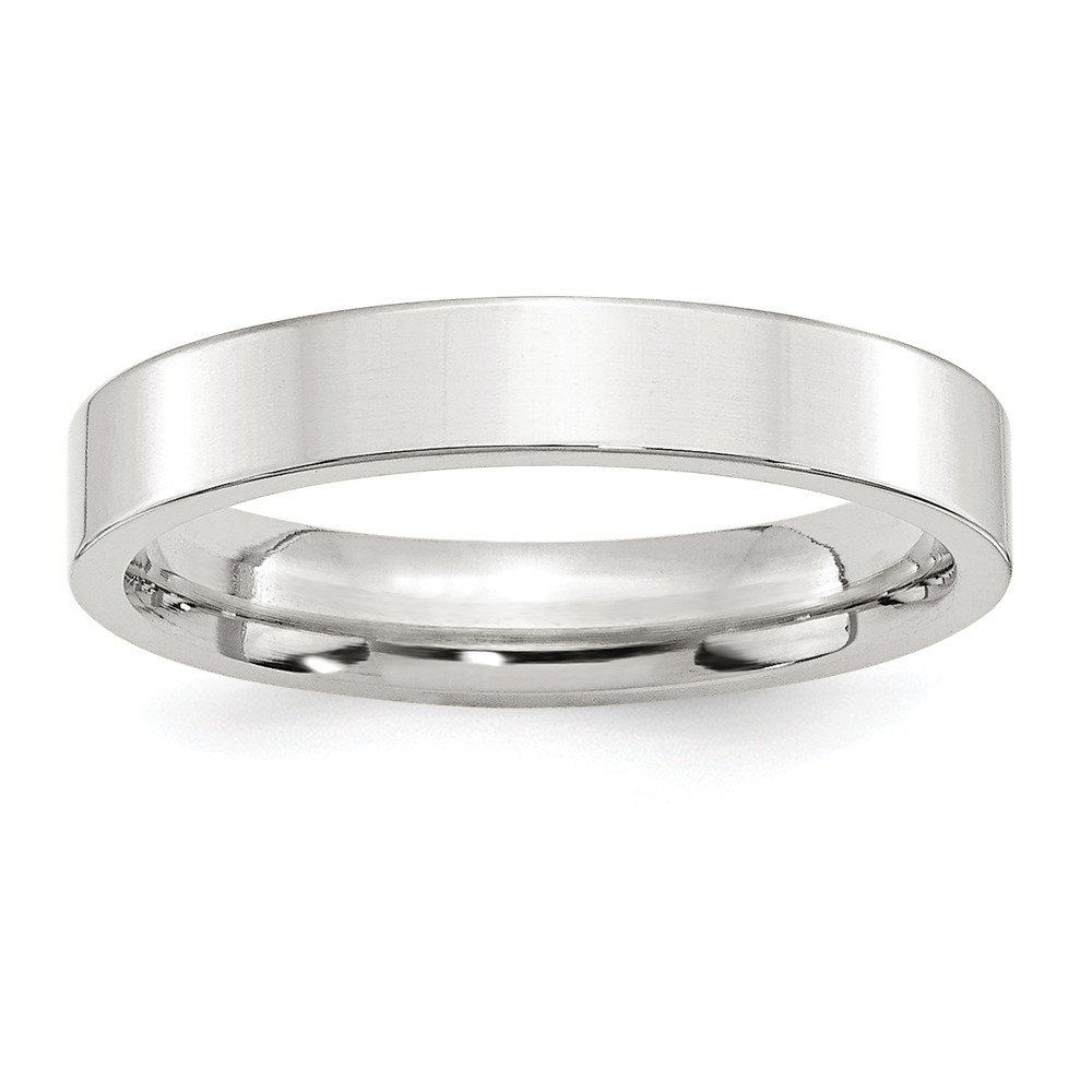 SS 4mm Comfort Fit Flat Size 4 Band Size 4 Length Width 4