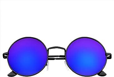 2265098aa Emblem Eyewear - John Lennon Inspired Sunglasses Round Hippie Shades Retro  Colored Lenses