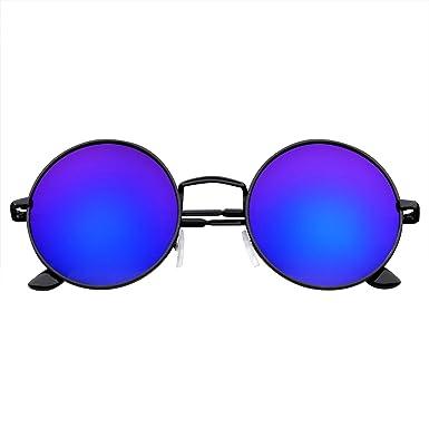 modèle unique San Francisco recherche de liquidation Emblem Eyewear - John Lennon A Inspiré Lunettes Rondes Hippie Lunettes  Rétro Miroir Couleur Lentilles