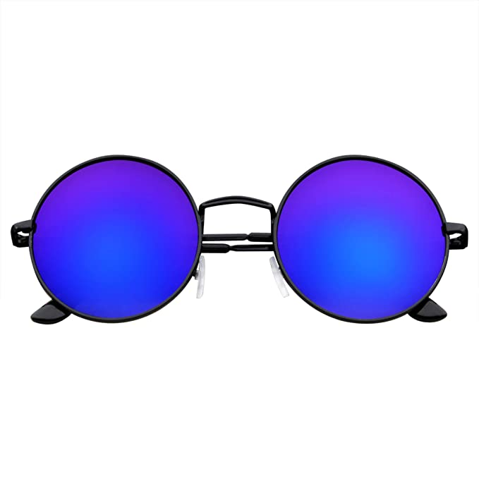 Emblem Eyewear - John Lennon Inspired Sunglasses Round Hippie Shades Retro Colored Lenses