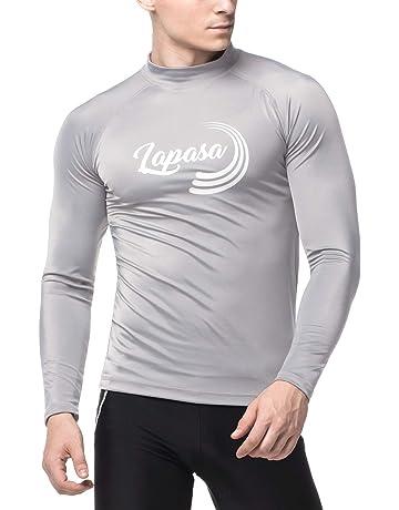 1f8d310f2 LAPASA Men's Rash Guard Shirt UV Sun Protection SPF +50 - Skin Care Long  Sleeve