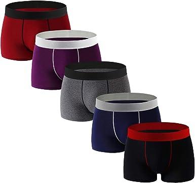 Mens Underwear Boxer Briefs No Ride-up Soft Cotton Boxer for Men Pack
