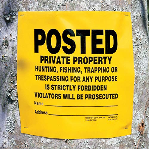 "Forestry Suppliers ""POSTED Private Property"" Signs, Roll of 200"