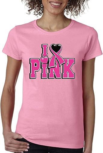 VISHTEA I Love Pink Together We Can Cure T-Shirt Breast Cancer Awareness Shirts