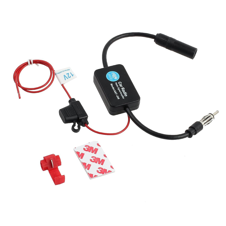 LiNKFOR Car Radio Aerials Auto Car Antenna Radio Signal AMP Amplifier Booster Strengthen ANT-208 25db 12V