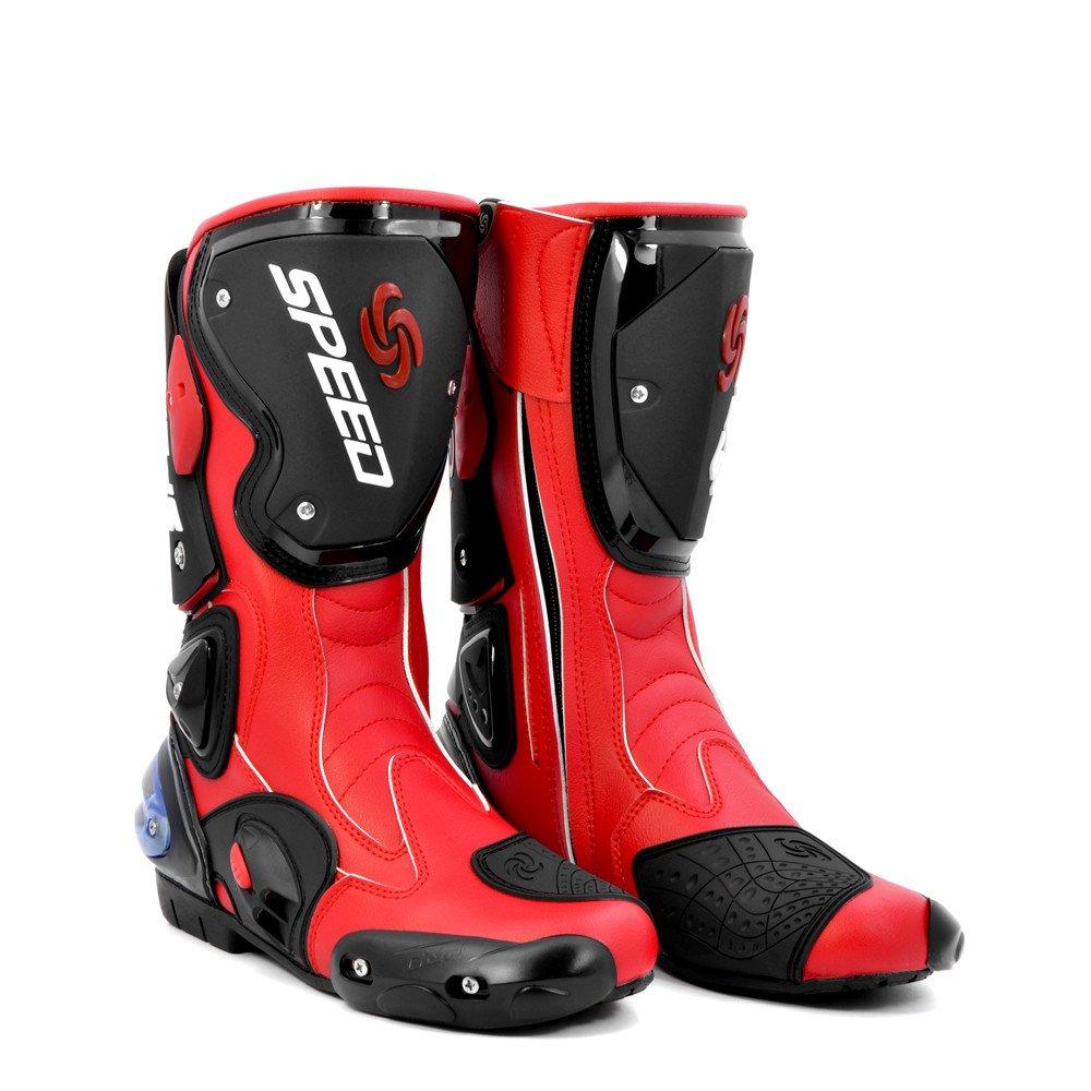 BJ Global Tendance pour Moto Racing Sport Cuir Bottes imperméables Chaussures de...