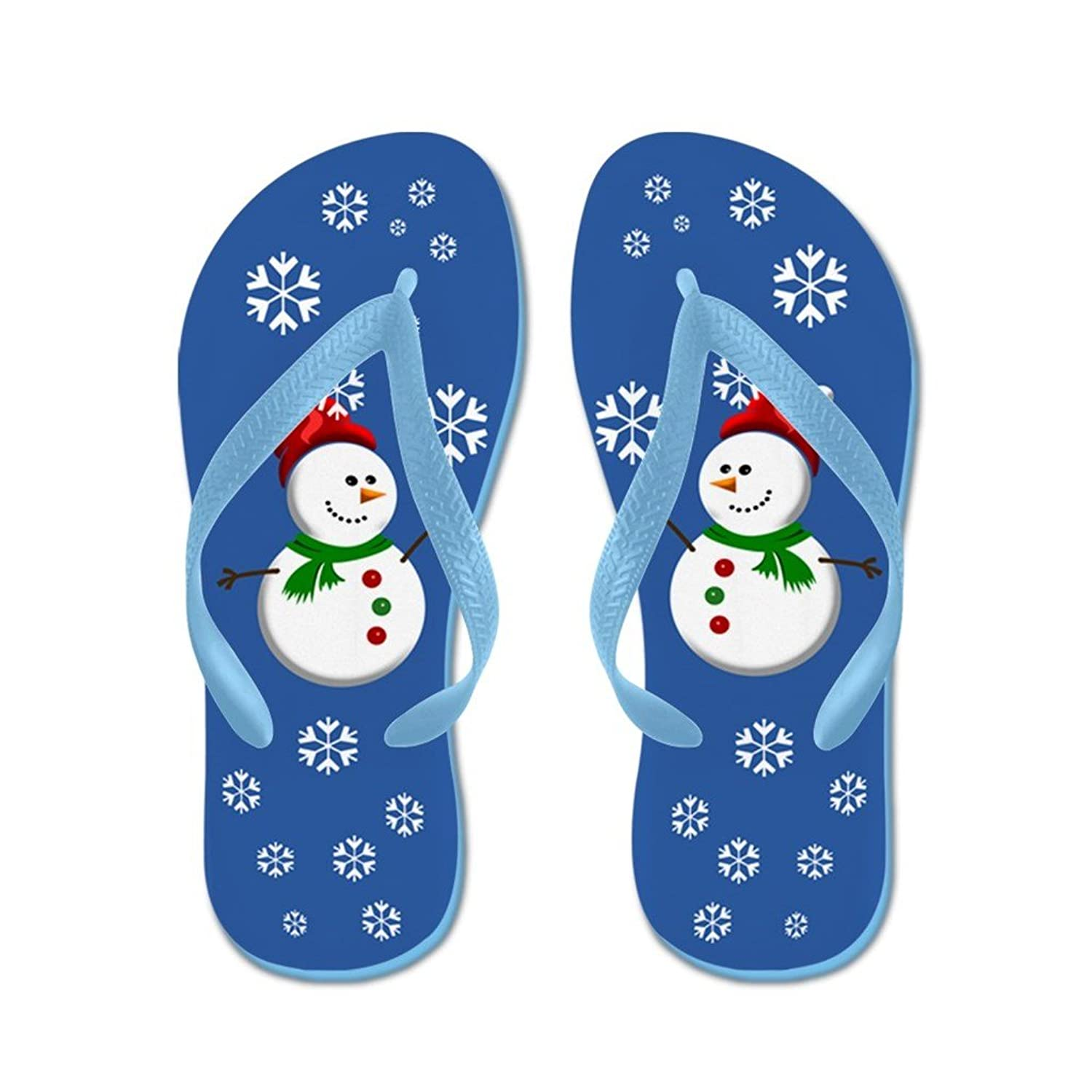 1e72f1044016 Lplpol Friendly Snowmen Flip Flops for Kids and Adult Unisex Beach Sandals  Pool Shoes Party Slippers