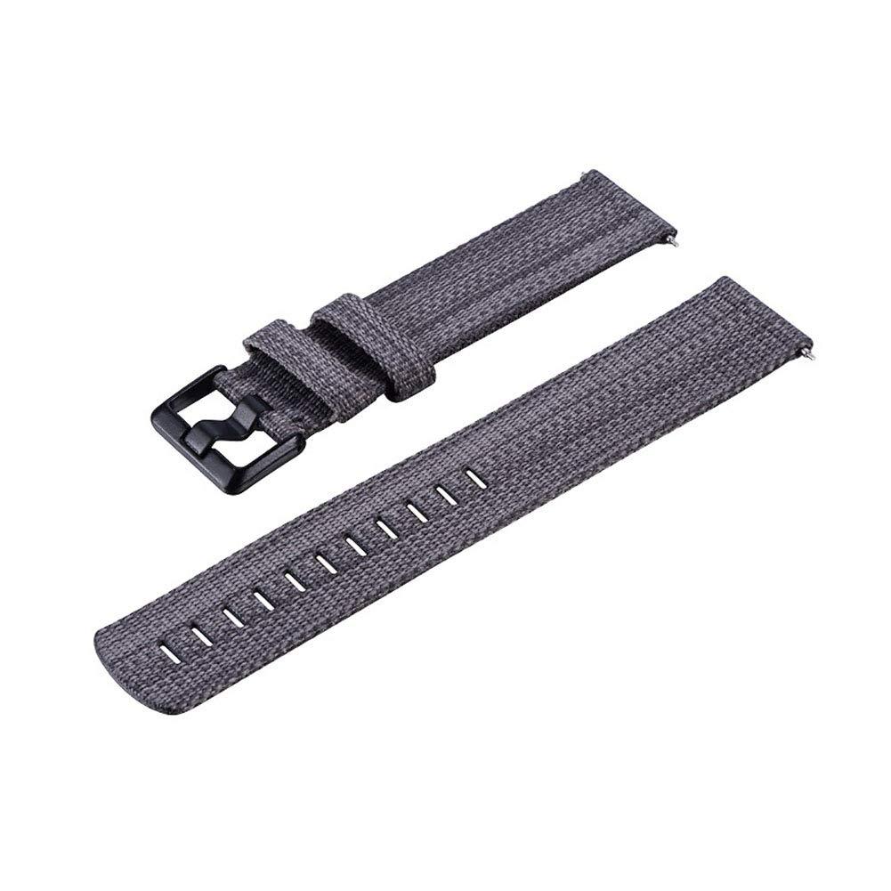 yanbirdfx Replacement Canvas Band Strap Bracelet Wristband for Fitbit Versa Smart Watch Dark Grey