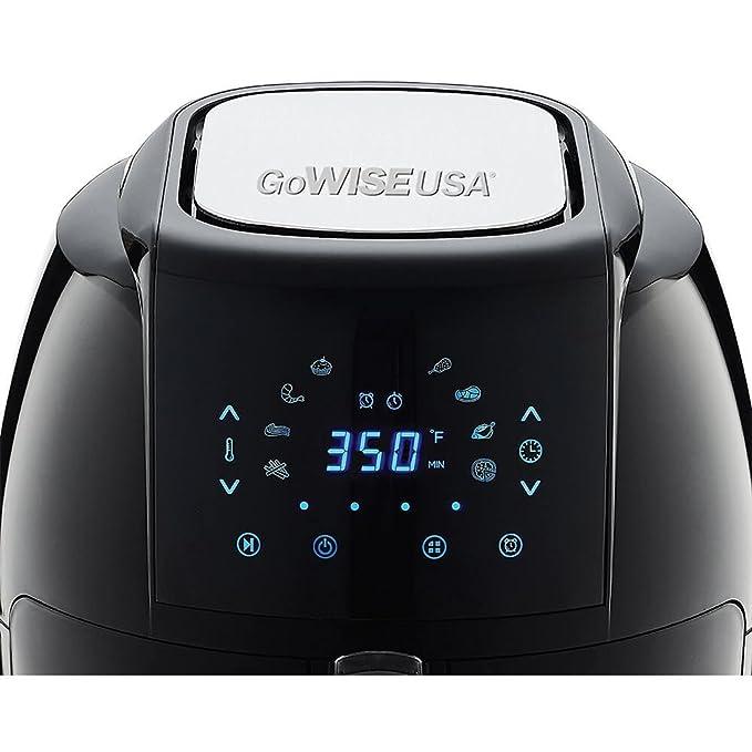 Estados Unidos GoWISE freidora de aire eléctrica w/pantalla táctil tecnología, botón y protector desmontable cesta: Amazon.es: Hogar