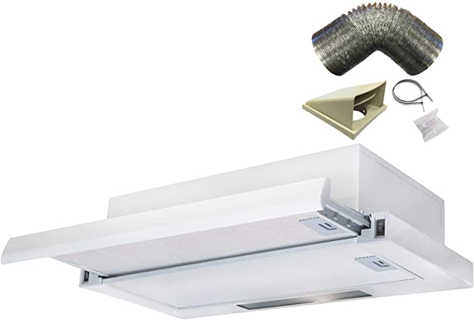 Sia tsc60wh blanco 60 cm telescópica Campana Extractor ventilador con Kit de 1 m): Amazon.es: Grandes electrodomésticos