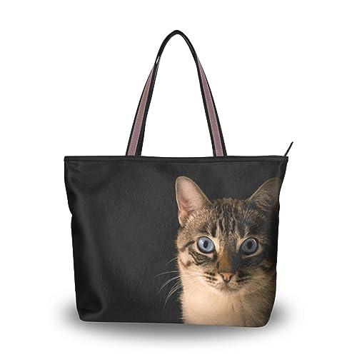 ALAZA Totalizador del Hombro del Bolso del Gato del Gatito Negro Bolso Grande: Amazon.es: Zapatos y complementos
