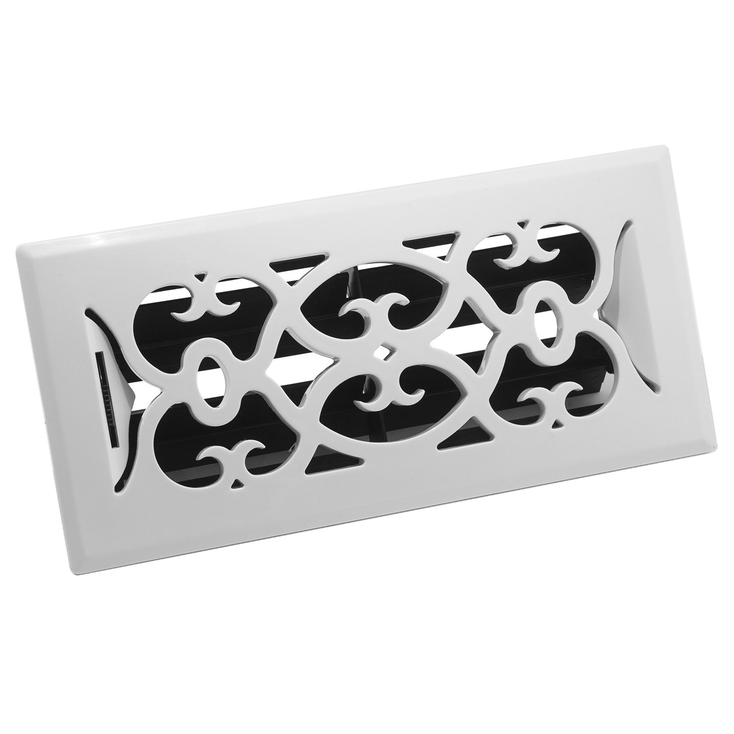 Accord APFRWHV410 Plastic Floor Register with Victorian Design, 4-Inch x 10-Inch(Duct Opening Measurements), White Finish by Accord Ventilation (Image #3)