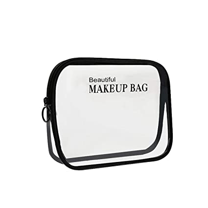 fbe214801ddd Amazon.com: Tthappy76 Pvc TransParent Cosmetic Bags Women'S Travel ...